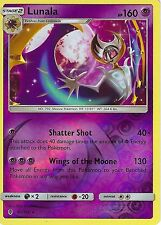 POKEMON SUN & MOON GUARDIANS RISING CARD: LUNALA - 61/145 - REVERSE HOLO