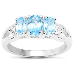 Plata-de-Ley-3-Piedra-Topacio-Azul-Anillo-Compromiso-Diamante-Hombros-Talla-i