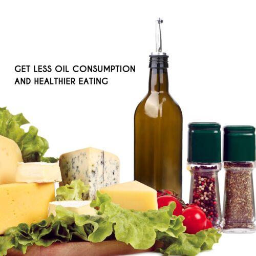 Aozita 17Oz Glass Olive Oil Bottle Set 500Ml Dark Brown Oil  Vinegar Cruet Wi