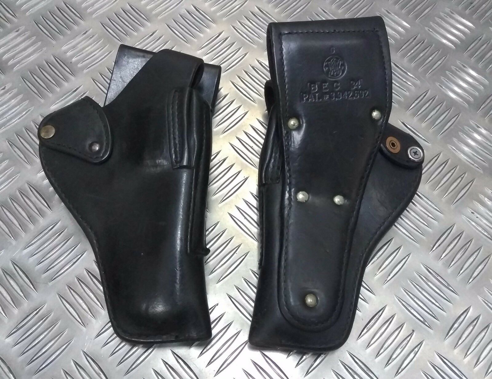 Genuine Police Issue Smith & Wesson or Gould & Goodrich Leather Duty Holster