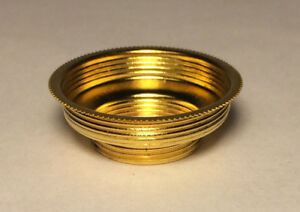 New Solid Brass # 1 to # 2 Expanding Collar Adapter for oil lamp burner #CO002