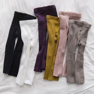 840529d3efdfb Toddler Baby Girl Kid Knitted Cotton Pants Leggings Infant Elastic ...