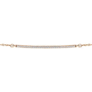 0.10CT H-SI LINEAR DIAMOND BRACELET IN 18K WHITE, pink AND YELLOW gold