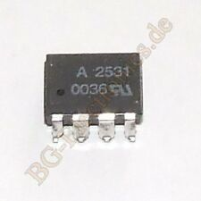 2 x HCPL - 2531#300 Dual Channel, High Speed Optocoupler 1 Agilent dip-8 2pcs
