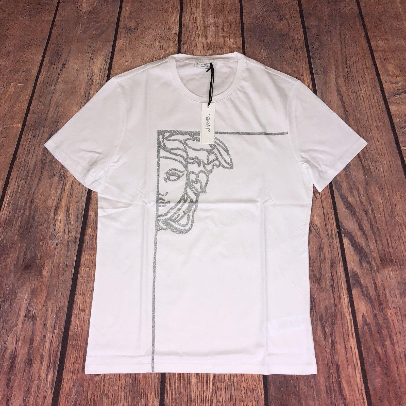 """PVP   Versace Collection Medusa Estampado T-SHIRT-XL 22"""" hoyo a hoyo  venderse como panqueques"""
