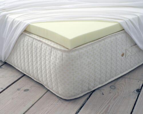 100/% Classic Orthopaedic Memory Foam Mattress Topper All Thickness Depth Sizes