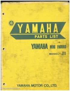 1971 Yamaha Jt1 Mini Enduro 60cc Two Stroke Motorcycle Parts Manual Ebay