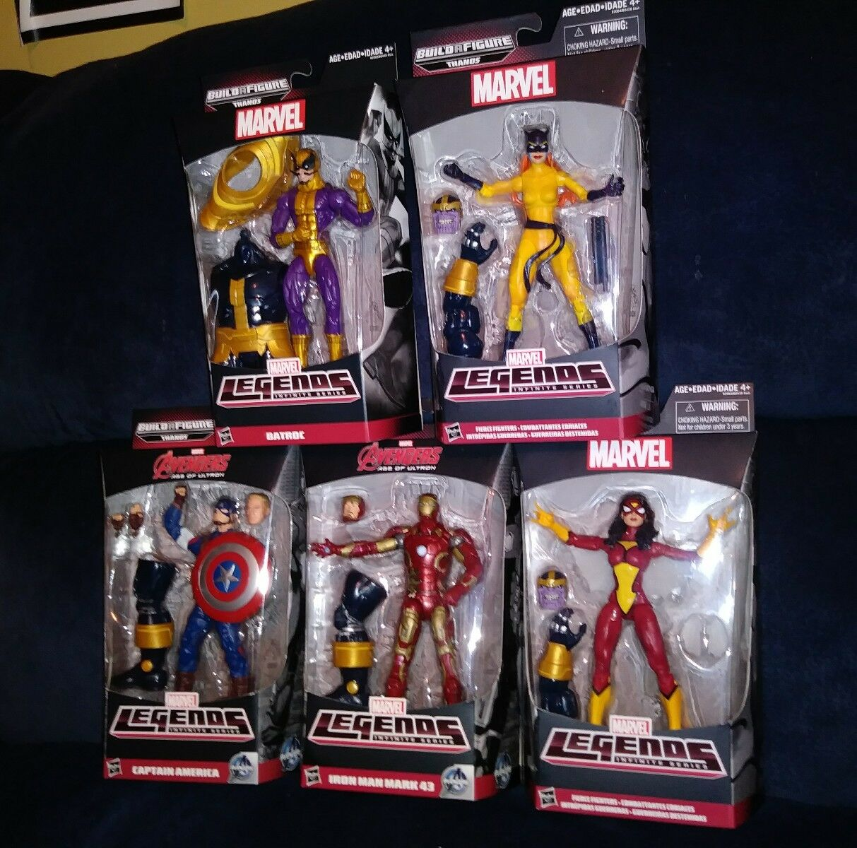 MARVEL LEGENDS THANOS BAF LOT 5 OF 6 FIGURES NO HULK
