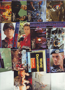 STREET-FIGHTERS-14-TRADING-CARDS-between-numbers-2-50-VGC