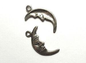 10 Pcs Lune 20mm Charmes Perles En Argent Sterling 925 7ptzezuv-07225515-425505360