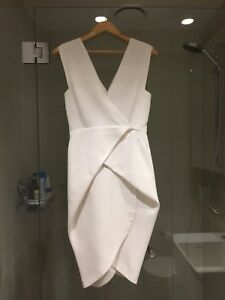 0eb5166606 Image is loading Bianca-Spender-White-Cocoon-Dress-Size-8