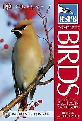 1 of 1 - RSPB Complete Birds of Britain and Europe (Book & CD), Acceptable, Dorling Kinde