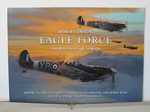 Eagle-Force-RAF-Spitfire-American-Eagle-Sqd-Robert-Taylor-Aviation-Art-Brochure