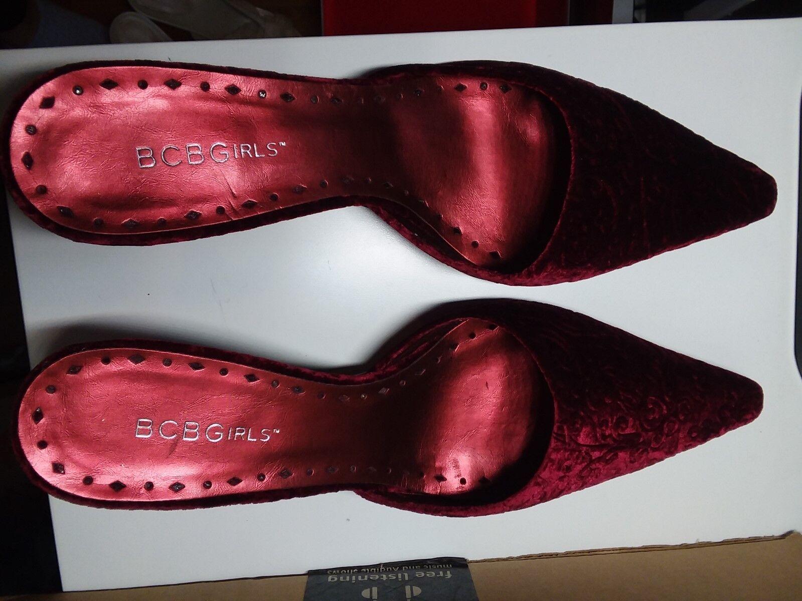 BCBGirls, (mules),brand Bordeaux, Damens, velvet schuhe (mules),brand BCBGirls, new in box, 9.5M 5ba4fe