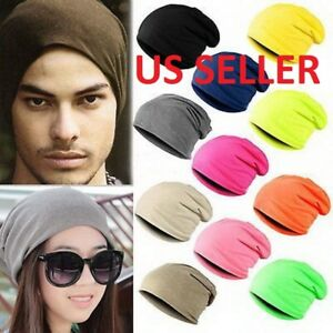 9c6d2fd0a0752 Women Mens Knitted Winter Warm Oversized Ski Slouch Hat Cap Baggy ...