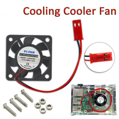 A B+ 30mm 5V 0.2A 2 Pin Connector Cooling Fan for Raspberry Pi B //2// 3