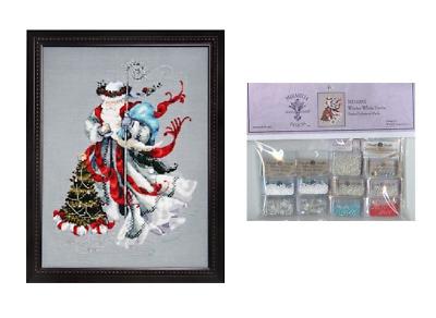 Winter White Santa by Mirabilia MD-100 cross stitch pattern
