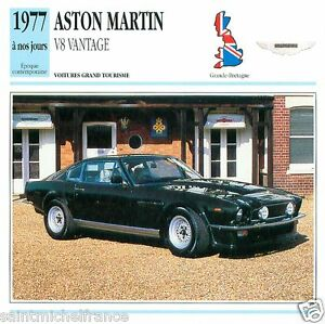 ASTON-MARTIN-V8-VANTAGE-1977-a-nos-jours-CAR-GREAT-BRITAIN-CARTE-CARD-FICHE