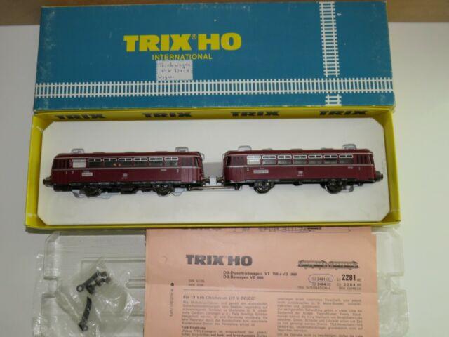 H0 TRIX  2481 Schienenbus mit Beiwagen 798 der DB OVP 2746