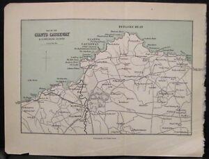 Map Of Ireland Giants Causeway.Details About Irish Map Giants Causeway Bushmills Northern Ireland Black Bartholomew 1900 5x7