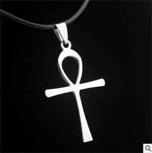 NEW cross woman's Men's Silver 316L Stainless Steel Titanium Pendant Necklace