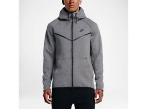 more photos utterly stylish arriving Details about New Mens Nike Sportswear Tech Fleece WIndrunner 805144-091  Gray Size 2XL