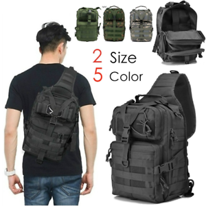 9446905cc565 Details about Military Tactical Sling Backpack Army Molle Waterproof EDC  Outdoor Rucksack Bag