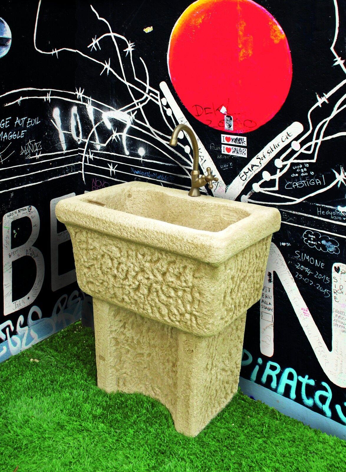 BONFANTE Lavello Acquaio da muro pietra ricostruita DORDOGNA Tufo