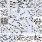 Wholesale 50/100pcs Tibetan Silver Tube Loose Spacer Beads Jewelry Making DIY