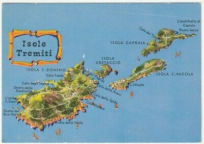 Cartina Geografica Isola Di Malta.Isole Tremiti Foggia Cartolina Cartina Geografica 46882 Ebay