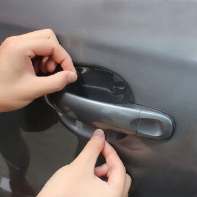 4x clear car door protective handle stickers prevent scratches u0026 paint damage car door handle hand9 car