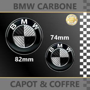 LOGO-EMBLEMA-PARA-BMW-82-MM-74MM-CARBONO-NEGRO-CAPO-MALETERO
