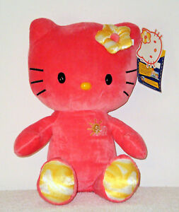 6cb184ec0 Build a Bear Hello Kitty Coral Sunshine Teddy 18in. Stuffed HK Doll ...