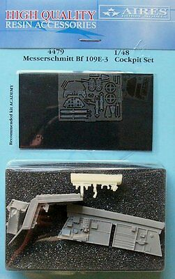 Models & Kits Aires 1/48 Messerschmitt Bf109e-3 Cockpit Set Pour Academy Kit # 4479