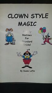 Clown-Style-Magic-Comedy-Routines-for-Standard-Tricks-Duane-Laflin-Booklet