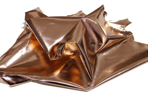 METALLIC ROSEGOLD rose gold Italian Lambskin leather hide skin skins hides 7sqf