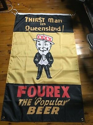 Home & Garden Sweet-Tempered Qld Mancave Bar Flag Poster Man Cave Bar Ware Pool Room Xxxx Huge Old Fourex