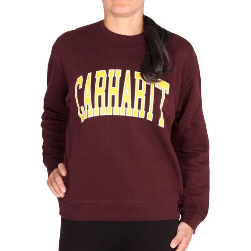 Carhartt WIP W/' Division Sweat Damson Damen Pullover Sweatshirt Weinrot