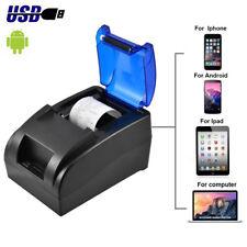 12V USB Mini 58MM POS Cash Register Thermal Dot Receipt Printer High Speed UU