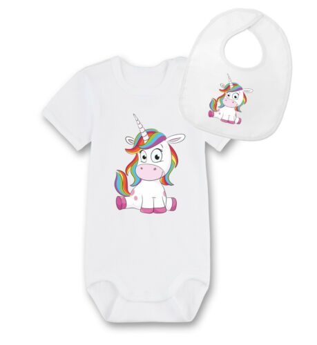 Baby Strampler Einhorn Baby Body,Bodysuit,Boddies Baby Lätzchen,Latz,Geburt