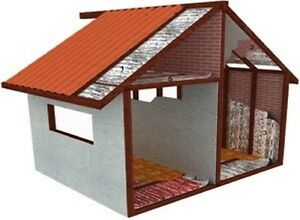 SHED & HOME INSULATION  SILVER FOILAIR BUBBL CELL EXTRA THICK HD 15 SQ METER~