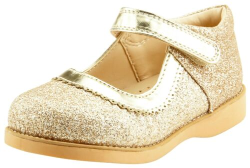 Girl/'s Party Dress Shoes Mary Jane Glitter Gold or Red Color Toddler size