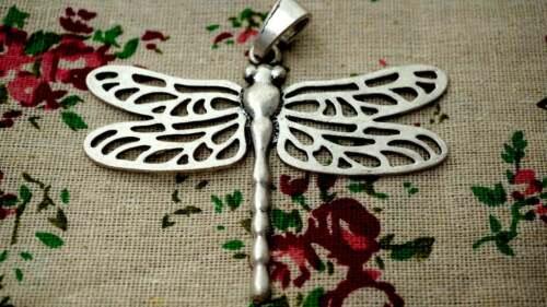 Dragonfly Grande Colgante de plata del encanto del Jewellery Supplies C1133