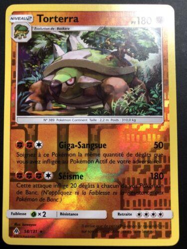 Pokemon Card Torterra 58//131 Rare Reverse Sun /& Moon 6 Sl6 Fr New