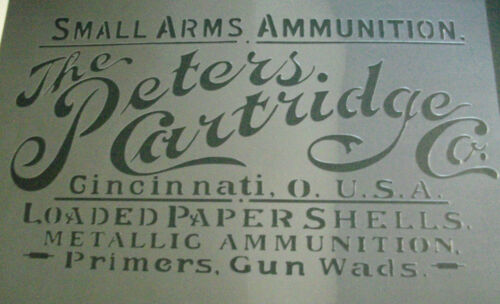 A4 Vintage The Peters Cartridge Co Crate Box Airbrush Stencil Army Ammunition
