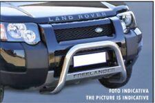 LAND ROVER FREELANDER BULL BAR MIRROR INOX 60 LUCIDO C/SCRITTA