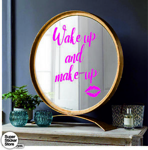 Make Up Wall Stickers Or Rose Chrome Citation Réveille Phrases Home-afficher Le Titre D'origine Pourtant Pas Vulgaire