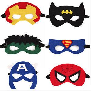 Unisex superhero eye mask fancy dress masks cosplay - Masque super heros imprimer ...