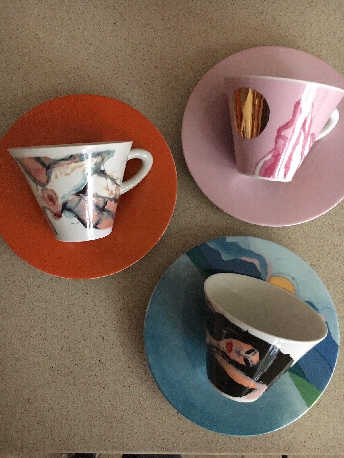 Illy Espresso et Cappucino Tasses-Collectors OBJET Francis Francis-SOTTSASS