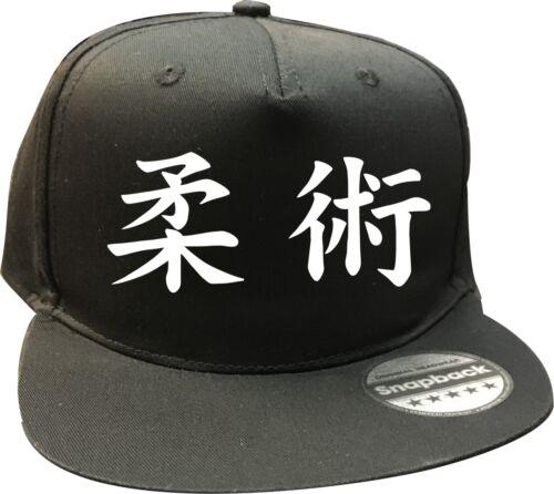 White or Red Text Quality caps ~ BLACK CAP JUJITSU KANJI SNAPBACK CAPS